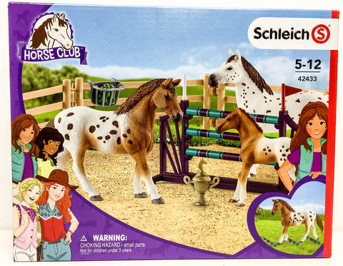 Schleich Appaloosa Horse Tournament Training set at Triple Mountain