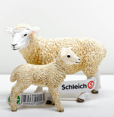 Schleich Dorset Sheep and Lamb at Triple Mountain