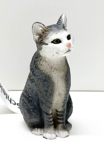Schleich Sitting Cat, Grey at Triple Mountain