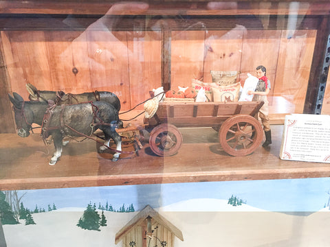 Triple Mountain Donkey Cart in Breyer model horse and carriage exhibit at Skyline Farm