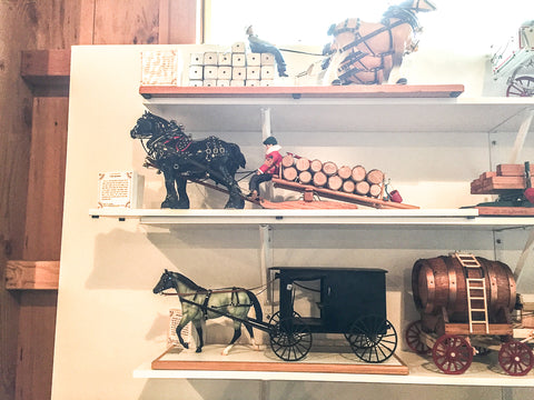 Triple Mountain Breyer model horse and carriage exhibit at Skyline Farm
