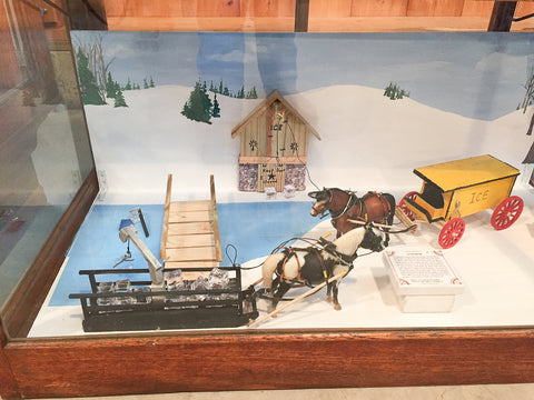 Triple Mountain Breyer Ice Harvesting Display in model horse and carriage exhibit at Skyline Farm