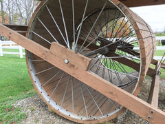 Double-Wheeleds Snow Roller at Skyline Farm Museum