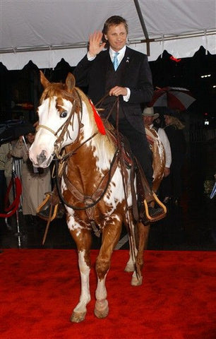 Paint Horse TJ with Viggo Mortensen at Hidalgo Movie Premier