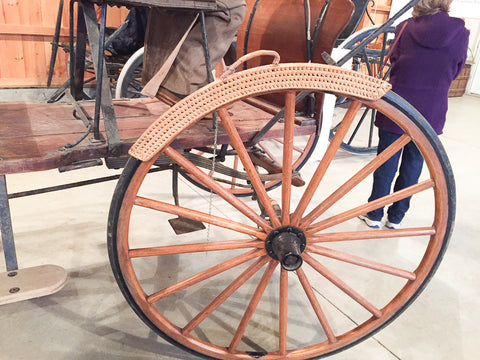 Wicker Wheel Cover at Skyline Farm Museum