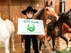 Triple Mountain gift cards can be used for vintage model horses!