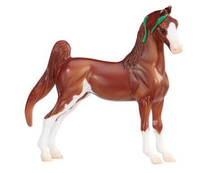 Breyer SM American Saddlebred Sorrel Pinto disco'd for 2018