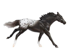 Breyer SM Thoroughbred black Appaloosa disco'd for 2018