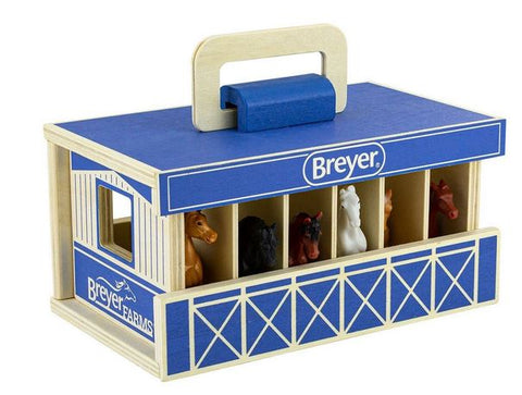 Breyer Wooden Carry Stable - second version promo photo