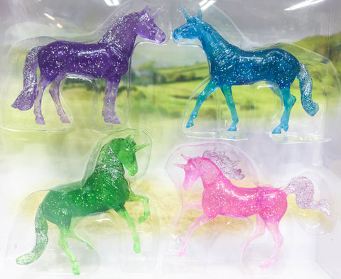 Breyer Stablemates Glitter Unicorns at Triple Mountain