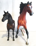 Size comparison: Left, Breyer Classic Terrang; Right, CollectA 1:12 Arabian Stallion