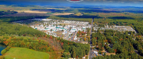 Fryeburg Fair from the air by Brian Merrill