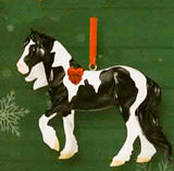 Breyer Beautiful Breeds Christmas Ornament Gypsy Vanner