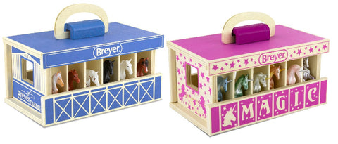 Breyer Wood Carry Stables with Horses or Unicorns at Triple Mountain
