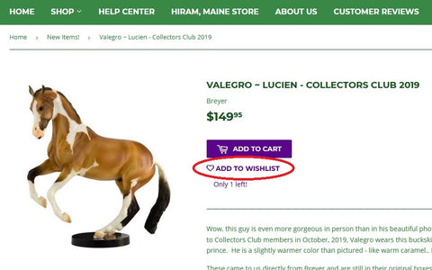 Horse Lovers Can Create a Wish List at Triple Mountain
