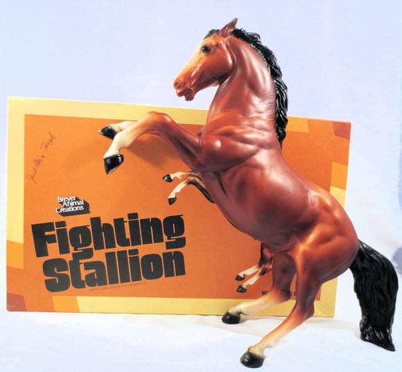 Fighting Stallion ~ King, Bay w/ Original Box - triple-mountain