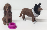 Collie and Bloodhound Pocket Box Dogs set - triple-mountain