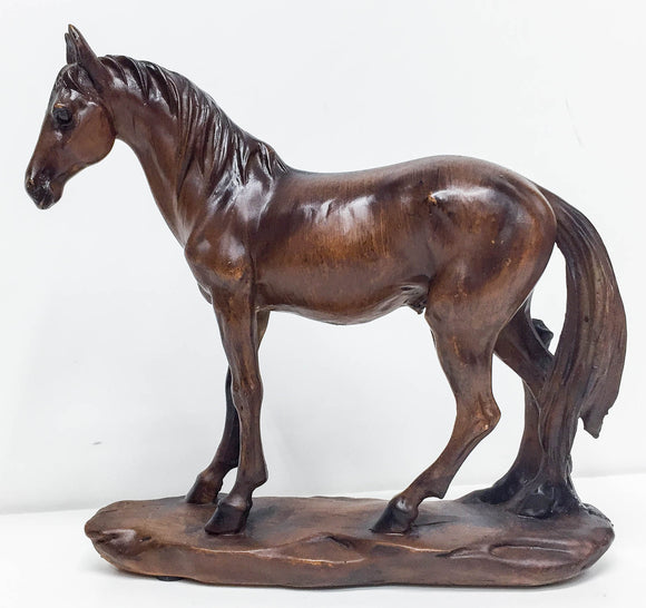 Standing Horse on Base - Woodgrain Style