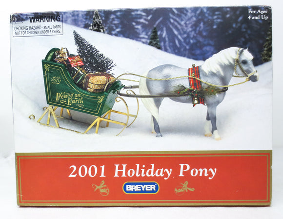 2001 Holiday Horse - Misty ~ Jingles, with Sleigh