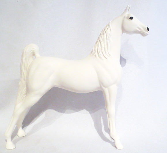 Levade Saddlebred Mare, White Bisque