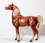"9"" Arabian Stallion, Copper Chestnut"