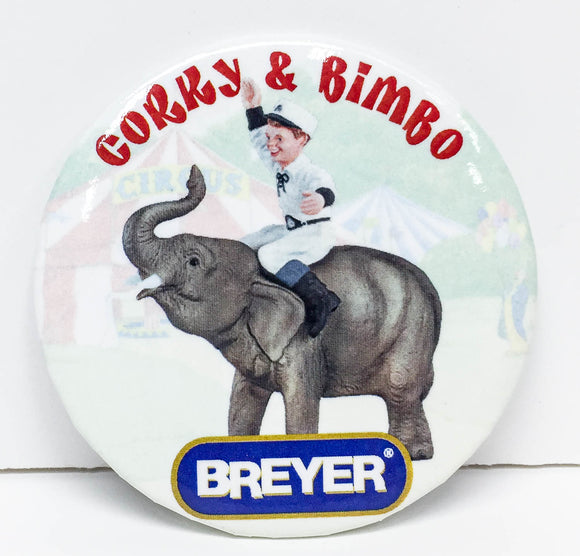 Button - Corky & Bimbo (Sale supports Harvest Hills Animal Shelter)