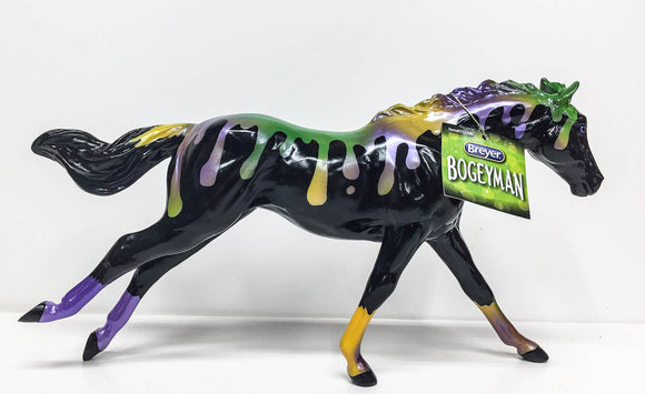 Running Thoroughbred ~ Bogeyman - Halloween Series (Sale supports Harvest Hills Animal Shelter)