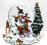 2003 Snow Globe ~ Winter Frolic (Sale supports Harvest Hills Animal Shelter) - triple-mountain