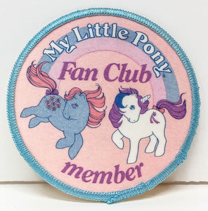 My Little Pony Fan Club Member Patch (sale benefits Harvest Hils Animal Shelter)