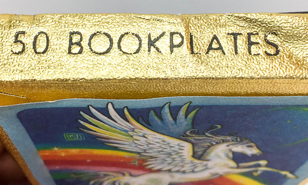 pegasus and rainbow book plates sale for charity