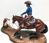 Poco Lena & Don Dodge - Breyer Gallery Porcelain  (Sale supports Harvest Hills Animal Shelter)