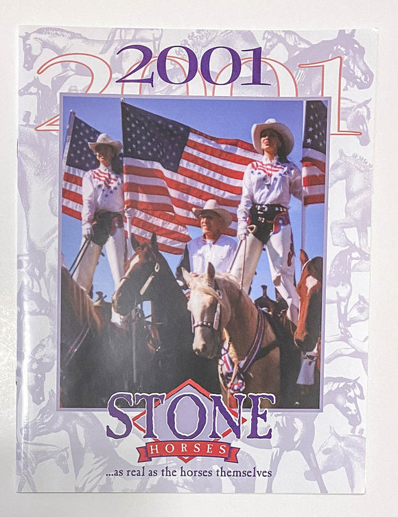 2001 Peter Stone Dealer Catalog (Sale supports Harvest Hills Animal Shelter)