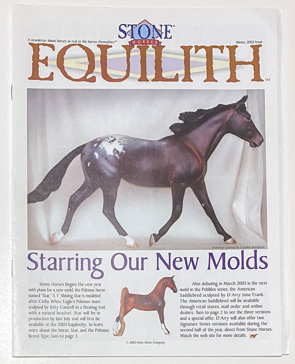 Stone Equilith, Winter 2002 (Sale supports Harvest Hills Animal Shelter)