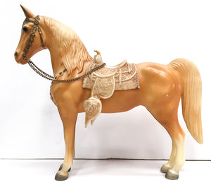 Western Horse, Palomino - OOAK Variation? Extra Large w/ Mold Difference