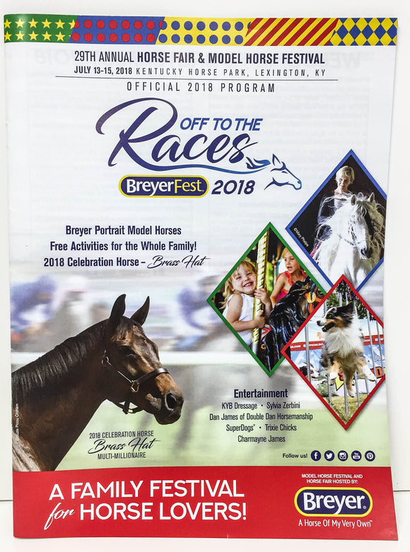 2018 Breyerfest Program - Off to the Races
