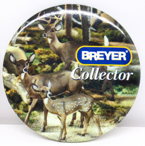 "Button - Breyerfest 1999, Deer Family ""Breyer Collector"" - triple-mountain"
