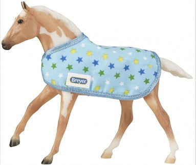 Action Stock Horse Foal ~ Scooter Set w/ Blanket & Bracelet - triple-mountain