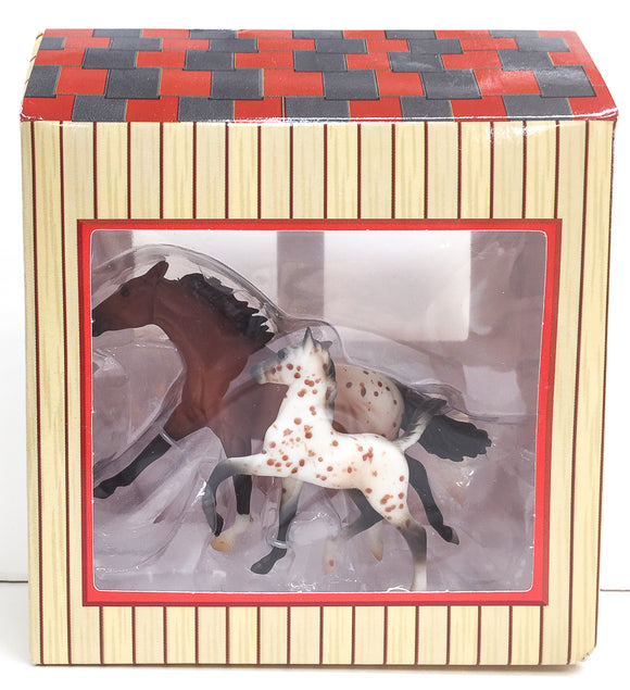 Thoroughbred and Trotting Foal, Appaloosa - Appaloosa Horse and Foal Set