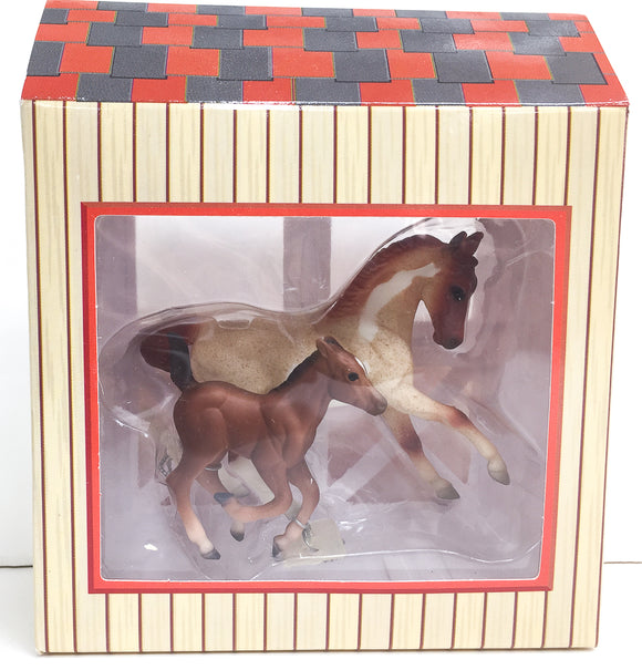 Warmblood & Cantering Foal - Warmblood Stallion and Foal Set