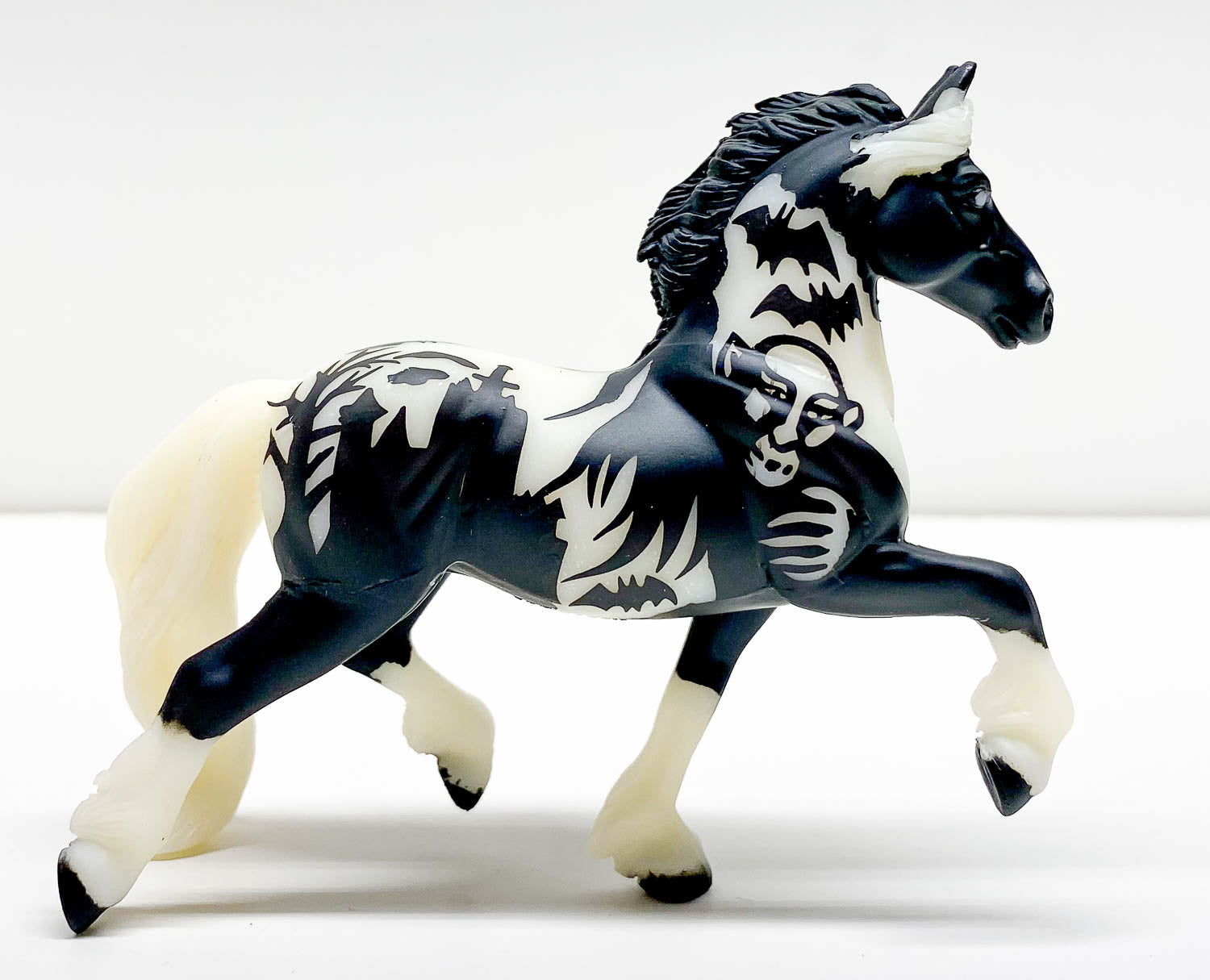 Trotting Friesian ~ Night Mare