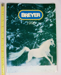 "1990 Breyer Dealer Catalog: 9' x 11"" Glossy Cover - triple-mountain"