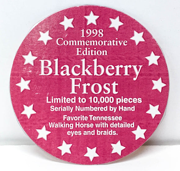 Box Sticker: Tennessee Walking Horse ~ Blackberry Frost