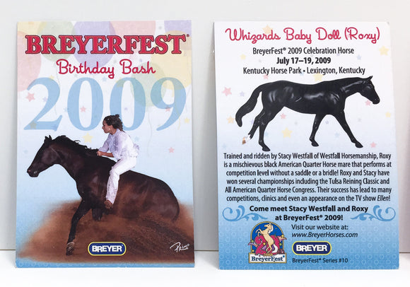 Breyerfest Collector's Card - 2009, Roxy