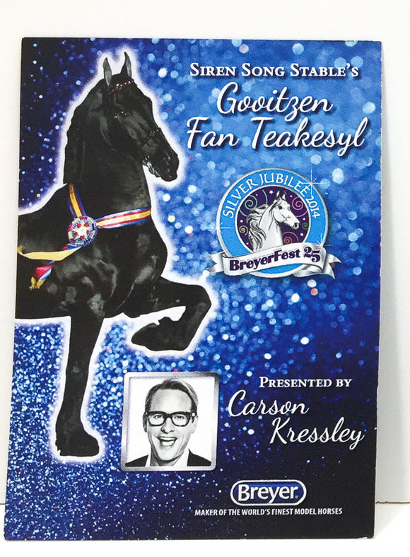 Breyerfest Collector's Card - 2014 Gooitzen fan Teakesyl