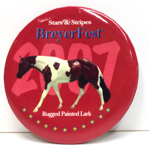 Button - Breyerfest 2007, Rugged Painted Lark - Red