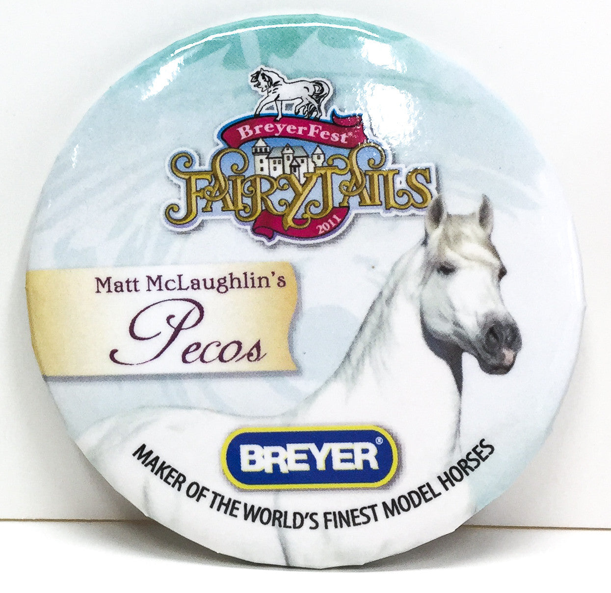 Button - Breyerfest 2011, Pecos - Blue - triple-mountain