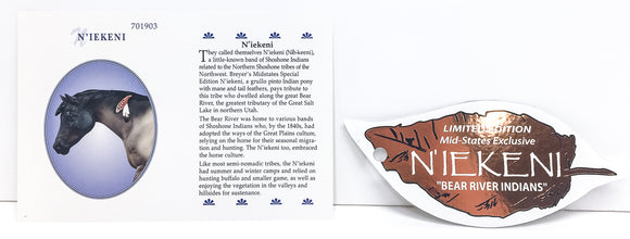 Indian Pony ~ N'iekeni Bio Card and Box Sticker