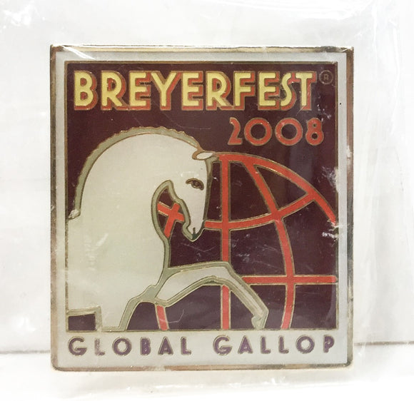 Lapel Pin - 2008, Breyerfest 2008 - Global Gallop
