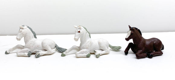 Set of Three Lying Foals