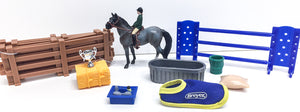 Standing Stock Horse ~ English Play Set w/ Accessories